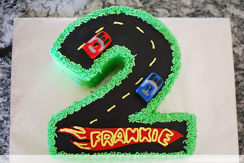 race car track cake
