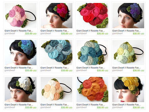 Rosette Fascinator // Retired Design