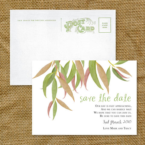 gum leaf save the date