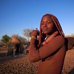 Himba girl in Karihona village , Ruacana Namibia