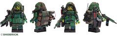 Navy Seals full gear details (Shobrick) Tags: shells green paint lego military details ak spray camo special tape jungle e tiny backpack tt vest minifig shotgun custom smg ammo pouches spec operator commando tactical hk416 brickarms shobrick
