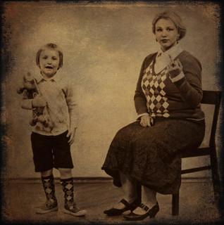 Frau Schwarz and her son
