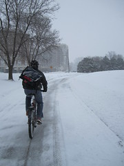 "Feb. 20 storm- 12"" (Low) Tags: snow bike bicycle ross snowstorm minneapolis february mn 2011 winterbike studdedtire alabamans"