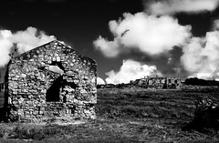 Marietta Ruins BW (CruzanVisions) Tags: street light sky blackandwhite abstract color art nature leaves museum sepia architecture clouds fence buildings island photography photo blackwhite ruins rocks fort culture structure stcroix antiques vi frederiksted usvi christiansted blackwhitephotos csted fsted