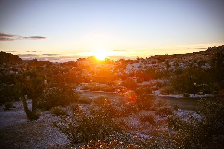 Chilly Sunrise at Joshua Tree