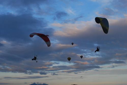 paragliding exhibition