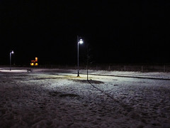 DRE_2249 (andre vautour) Tags: winter light snow toronto ontario ice beach lamp weather lights post path boardwalk nightbeach andrevautour