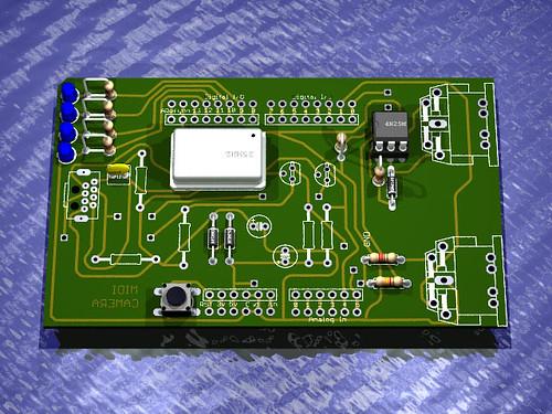 Arduino MIDI Pixart Shield