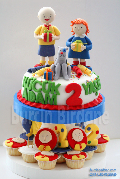 Caillou Pasta ve Cupcake Stand