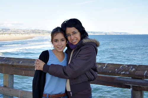 Beach: Me and my mom