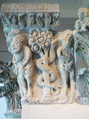Camarasa Historiated Capitals with detail of Adam and Eve