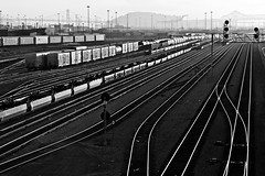 Wheels (Thomas Hawk) Tags: california bw usa america oakland unitedstates 10 unitedstatesofamerica traintracks eastbay fav10 photowalking pandoraphotowalk photowalking070709 photowalking07092009