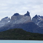 Pehoe Lake view of Cuernos del Paine