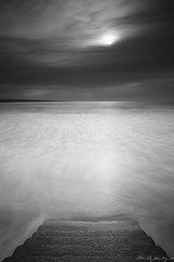 Step into the Sea (Neville Gawley) Tags: ireland sea blackandwhite bw water long exposure clare steps lahinch nd110