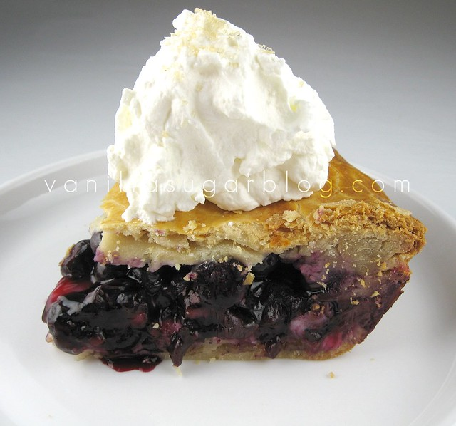 Blueberry Pie With Sweet Almond Crust Recipe — Dishmaps