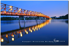 punggol riverside walk (fiftymm99) Tags: bridge red reflection water river singapore riverside walk reservoir punggol nikond300 fiftymm99 gettyimagessingaporeq1 loronghalusbridge