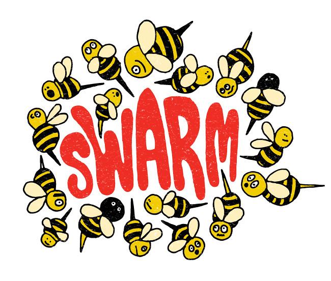 illustration friday- swarm
