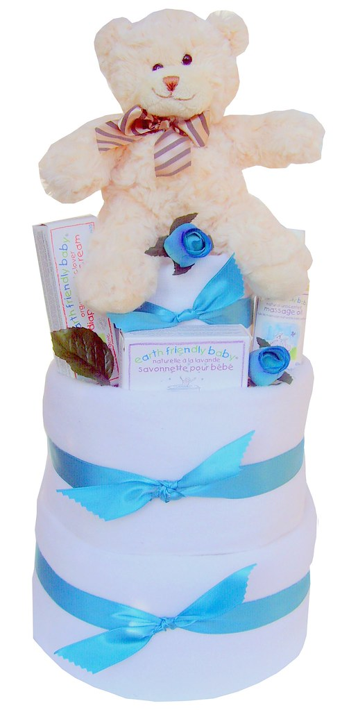 Teddy Baby Nappy Cake at Labours Of Love Baby Gifts