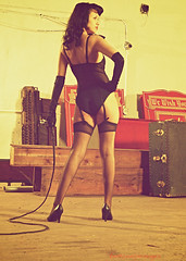 Bettie Page tribute 4 (VictoriaCosplay) Tags: stockings up pin highheels stage bondage whip bettiepage pinup cosplaygirl victoriacosplay wwwcosplaygirlwebscom wwwbettiepagecom