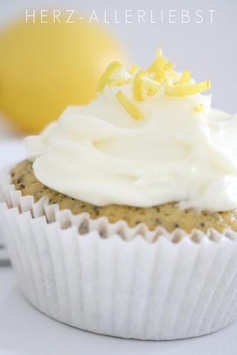 Zitronen Mohn Cupcakes