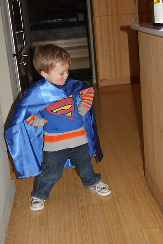 superman with cape