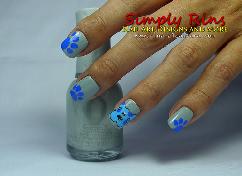 Nail Art Blues Clues 01