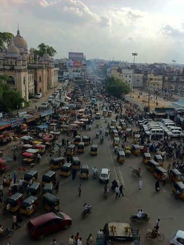 View from Charminar, Hyderabad