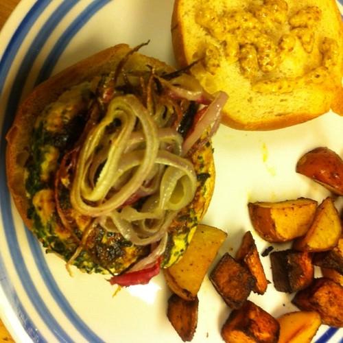 Spinach & Goat Cheese Turkey Burger