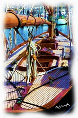 Cannes (06) France - Voilier en Teck - Tableau de Grcoph (gercoph) Tags: sea mer france port french boat barca riviera mare cannes porto bateau  bearing alpesmaritimes ctedazur        costadazur alpimarittimo alpes
