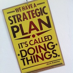 Great strategic plan sign on wall at @flipboard