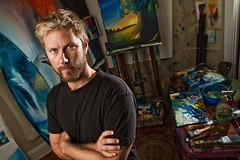 069/365 Ashton Howard (matthewcoughlin) Tags: artist fineart canvas painter paintbrush speedlite offcameraflash strobist ashtonhoward 430exii canon7d oceanimagery 3652011 2011inphotos
