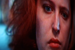 IMG_0357e (Sterne Slaven) Tags: distortion tv redhead funhousemirror thexfiles gilliananderson danascully analogtelevision