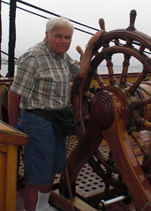 Dad on a big ship in Duluth