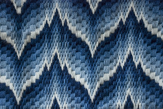 Bargello Needlepoint Pillowtop