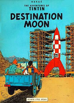 Tintin cover - Destination Moon