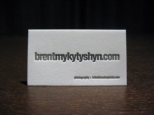 Two-Color Letterpress Business Cards