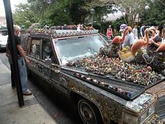 Art Car (dsjeffries) Tags: toys orleans colorful neworleans gaudy tacky artcar overthetop francais plastictoys nolanew plasticfigurines latrobepark quarterquartier louisianalouisianafrench