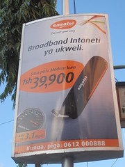 Mobile 3.1 Mbps broadband Internet access for $26 in Tanzania.