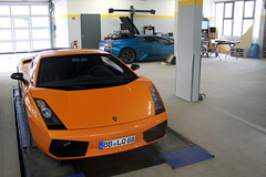 Lamborghini A & E (PK Wright) Tags: birthday street camera new trip travel family wedding friends party summer vacation sky holiday london art beach me nature its car k japan canon this was hotel is europe place shot phil time stuttgart garage plate have where when there registered p wright really would seen which lamborghini loved philip outskirts gallardo called recently according murcielago meilenwerk boblingen superleggera nother mulsanne 550d gohm i philwright pkwright stuttgart2011