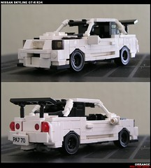TURBOZILLA (ORRANGE.) Tags: white black love japan skyline nissan lego rims orrange gtr r34