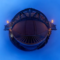 Planet Blue Wonder (boris.boesler) Tags: panorama germany deutschland dresden sachsen dri stereographic hugin blaueswunder kugelpanorama littleplanet loschwitzerbrcke