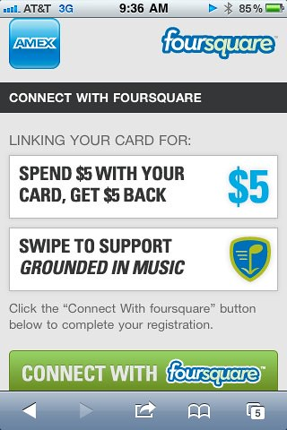 foursquare American Express SXSW Deal