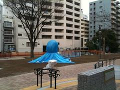 今日のたこ公園。また隠れるタコ。(3/20) #ebisu