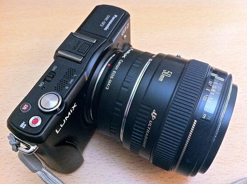 Panasonc GF2 + Fotodiox Adaptor + Canon EF 50mm f/1.4