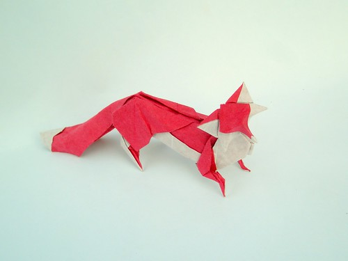 Fox by H.T.Quyet, folded by Artur Biernacki
