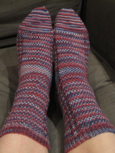 Aquaphobia socks, March 2011