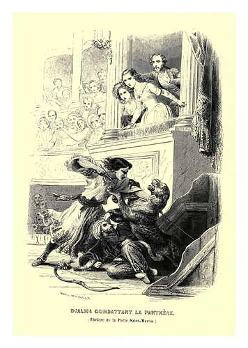019- Djalma combate con la pantera-Le juif errant 1845- Eugene Sue-ilustraciones de Paul Gavarni