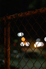 Mixed Lighting (jomak14) Tags: canon fence parkinglot rust bokeh trainstation selectivefocus eos1ds tiltshift lightshadows willowgrovepa tiltshiftlens madeinukraine russianmade photex80mmf28