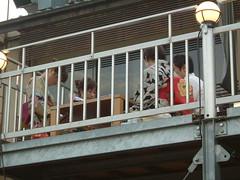 Pontocho terraces over kamogawa (Lau_chan) Tags: kyoto maiko geiko geisha pontocho hanamachi