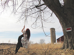 (bellydnce1103) Tags: house selfportrait tree abandoned girl barn illinois tire swing caledonia rockford